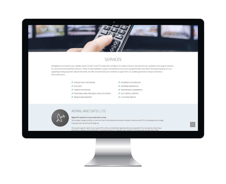 Aerial_company_web_design_and_development_by_Designbite_3